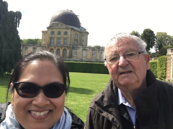 With M. Didier (François' father) at the Meudon Observatory