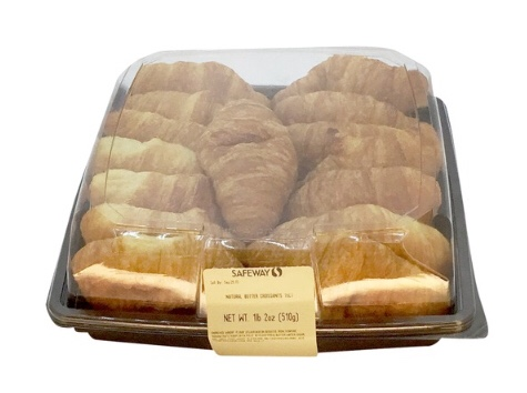 pack of mini croissants in a clear container