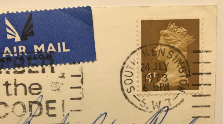 Postmarked July 1973