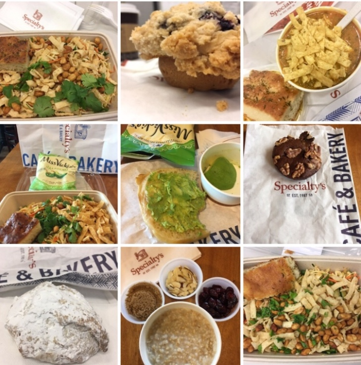salads, soups, cookies, baked goods from Specialty's