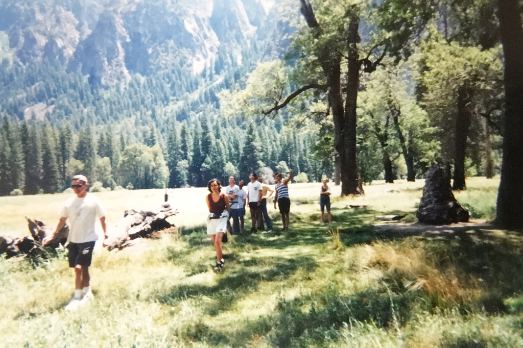 group of people in Yosemite